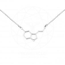 """Колье """"Молекула серотонина"""" (Серебро 925)"""