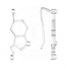 """Серьги """"Молекула серотонина"""" (Серебро 925)"""