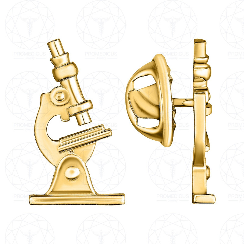 """Значок """"Микроскоп """" (Золото 585)"""