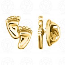 """Значок """"Две стопы"""" (Золото 585)"""