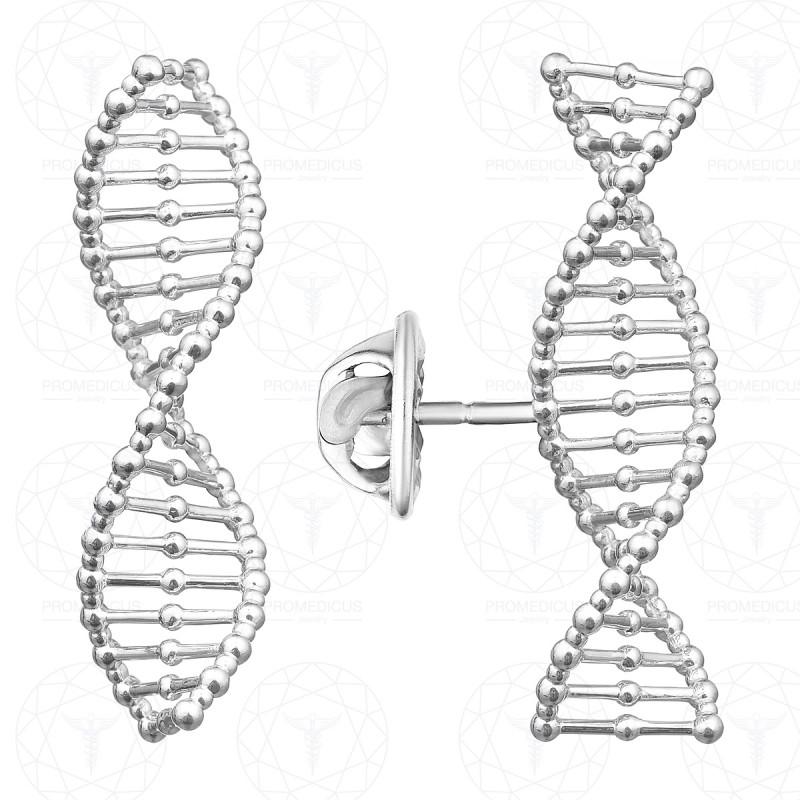"Значок ""ДНК"" (Серебро 925)"