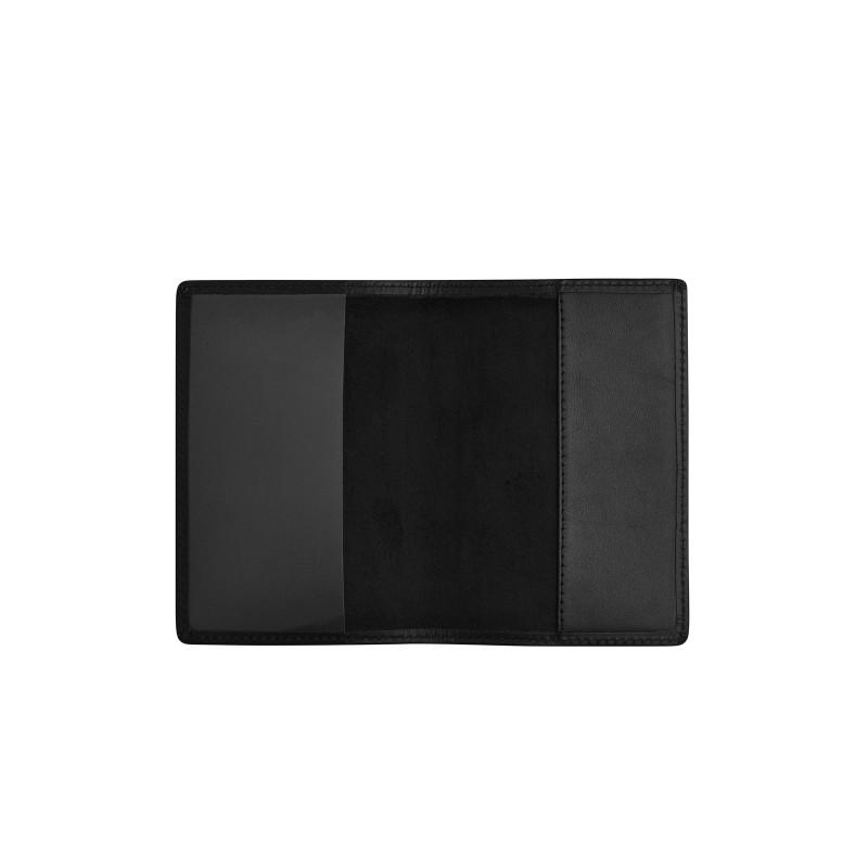 """Обложка для паспорта с пином """"Чаша Гигиеи"""" (цвет черный)"""