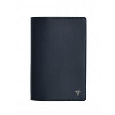 """Обложка для паспорта  с пином """"Кадуцей"""" (цвет темно-синий)"""