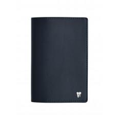 """Обложка для паспорта с пином """"Зубик"""" (цвет темно-синий)"""