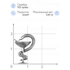 """Значок """"Чаша Гигиеи"""" (Серебро 925)"""