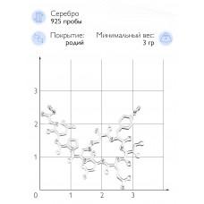 """Колье """"Формула окситоцина"""" (Серебро 925)"""