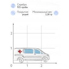 """Значок """"Скорая помощь"""" (Серебро 925)"""