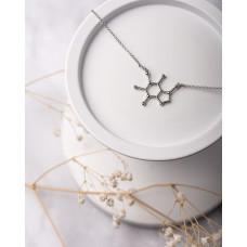 """Колье """"Молекула кофеина"""" (Серебро 925)"""