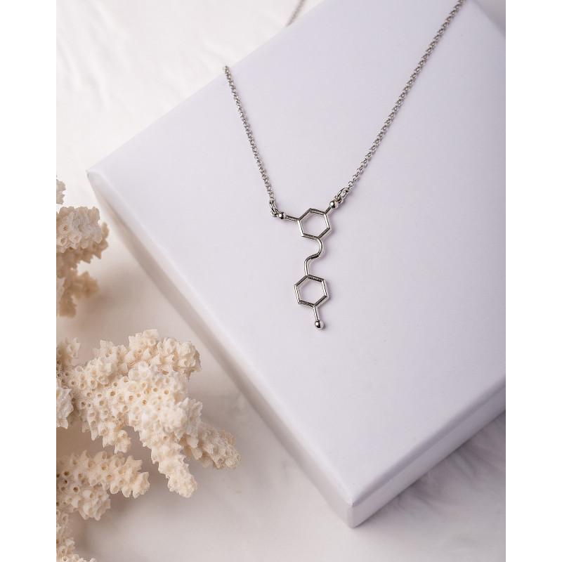 """Колье """"Молекула дофамина"""" (Серебро 925)"""